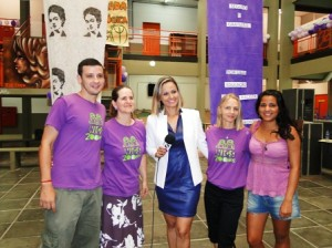 Da esquerda para a direita: Bruno Cordeiro, Tânia Welter, Rubia Laidens, Mareli Graupe e Nattany Rodrigues