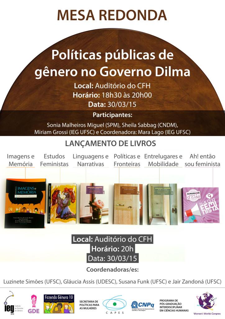 Mesa Redonda Politicas Publicas de Gênero 30.3.2015