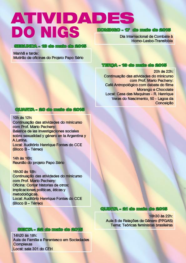 atividades NIGS - 3a semana maio