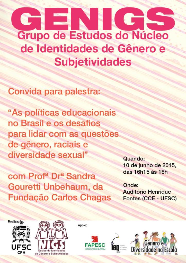 Cartaz Profa Sandra - GENIGS